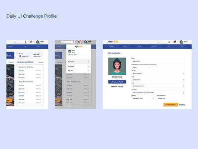 Profile Design web product design daily 100 challenge dailyuichallenge dailyui