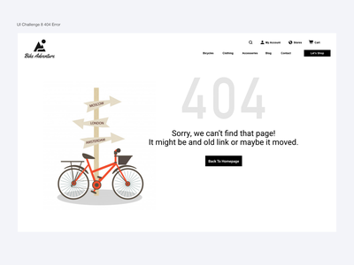 404 Error daily 100 challenge design branding web product design dailyui