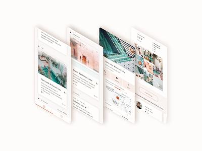 Travel city guide app of Morocco 👒 design ui design travel app ui