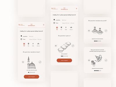 Travel city guide app of Morocco 👒 app ui ui design travel app illustration design