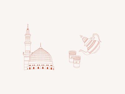 Illustrations for travel city guide app of Morocco 🕌 app ui ui design design vector travel app illustration