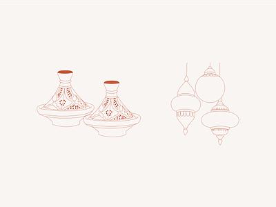 Illustrations for travel city guide app of Morocco 🕌 art illustrator branding app design vector travel app ui design ui illustration