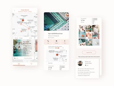 Travel city guide app of Morocco 👒 information design information map app ui design ui travel app design