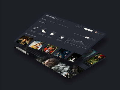 FantasyTV 🌚 icons iconography vector web dashboard ui dashboard dark fantasy design app ui design ui travel app