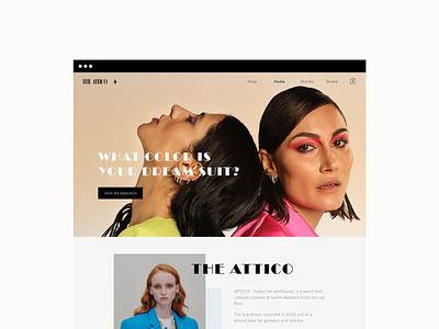 The ATTICO - ecomerce online shop 🦩 editorial app fashion online shop ecommerce ui design ui design