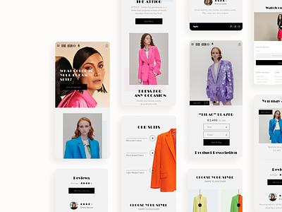 The ATTICO - ecomerce online shop 🦩 homepage product page online shop ecommerce ui design ui design