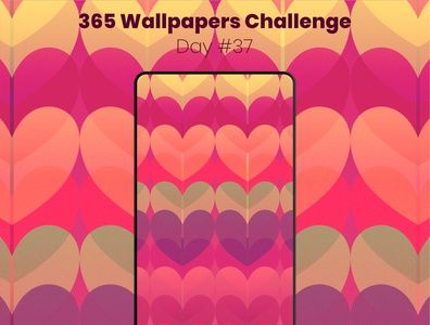365 Wallpapers Challenge - Day #37 valentine affinity designer 365 daily challenge affinitydesigner wallpaper design wallpapers love challenge valentinesday