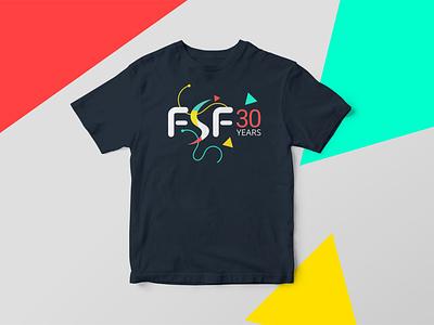 FSF30 Tshirt tshirt design tshirt celebration fsf inkscape