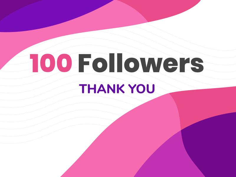 My first 100! celebration 100 followers