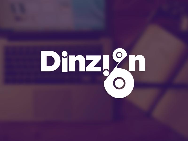 Dinzign Logo branding logo identity typography lettering mark icon