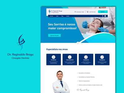 Site Dr. Reginaldo Braga web design design art website ui design interface ui design