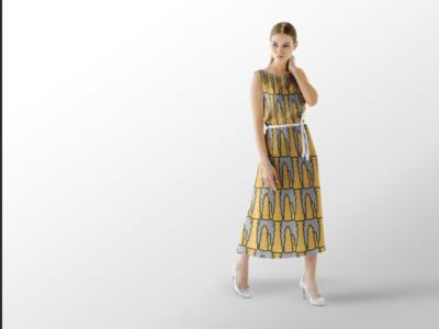 Chess Dress Mockup