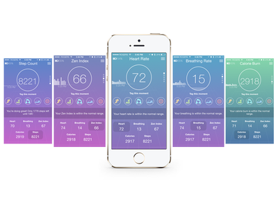 OMsignal biometric app mobile wearable ios heart rate breathing movement steps fitness