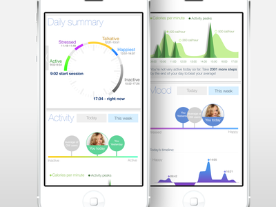 Bio tracking app mobile wearable ios heart rate breathing movement steps fitness