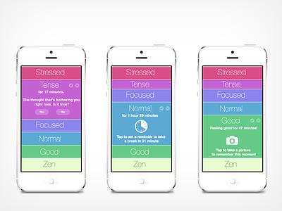 OM Stress management app mobile wearable ios stress slider