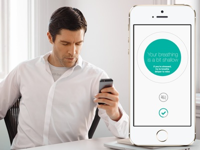 Breathe... mobile wearable ios breathing relaxation notification
