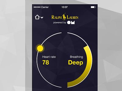 OM for Ralph Lauren mobile wearable ios heart breathing
