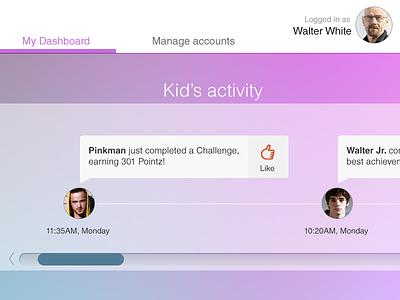 Family Dashboard web app family dashboard activity