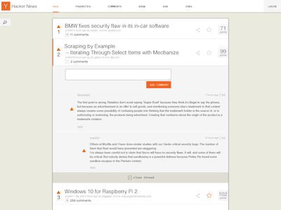 Hacker News redesign website hacker news hackernews redesign ui ux