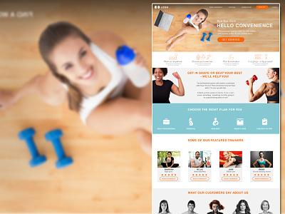 Fitness app website fitness app website ui ux gym sport design