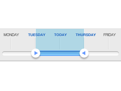 The story of a slider slider bar measure blue grey clean ui interface