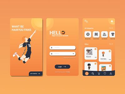 Haikyuu Store online shopping haikyuu ui design uidesign mobile app mobileappdesign design ui online store online shop