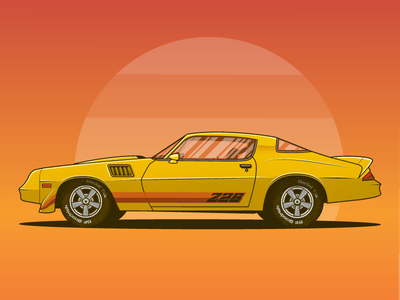 1979 Chevrolet Camaro Z28 Dribbble z28 camaro illustration car graphicdesign vectorart musclecar camaro chevrolet