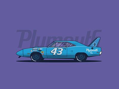 1970 Plymouth Superbird vector illustration car vintage musclecar superbird plymouth