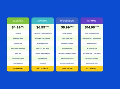 1920x1080 pricing tables ux branding app vector photoshop web website logo design