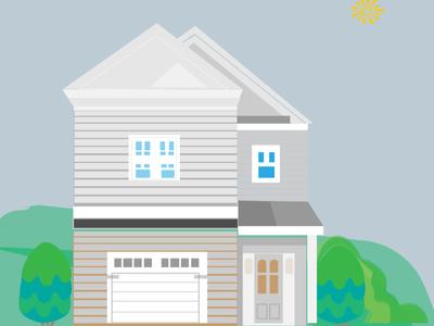 house flat illustration vector art branding web design