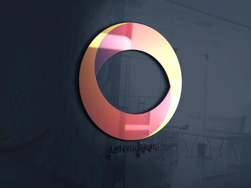 rounded illustration icon typography art branding website photoshop web logo design