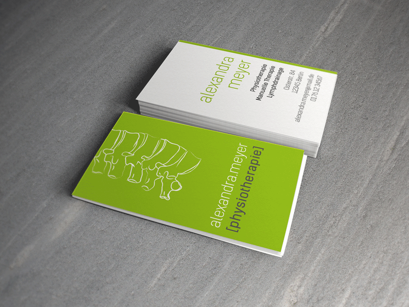 Business Card For A Physical The Spine