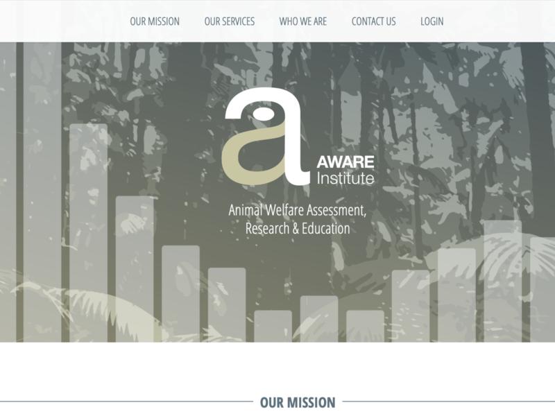 Aware Institute website design logo