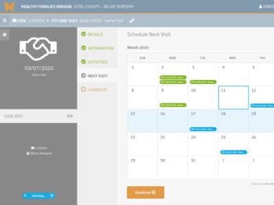 Clara Home Visit Charting Workflow web ux ui web app design