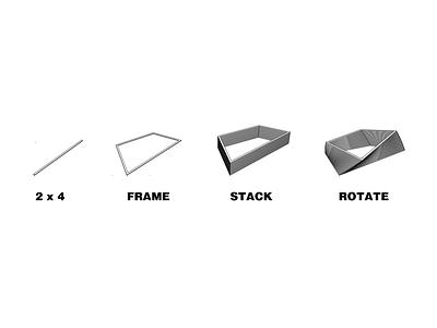 """Twist"" Planters conceptual design design process visual representation"