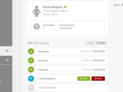 Clara Client Outreach Interface ui ux web app design web design