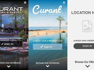 Curant Web Application Landing Page Design Studies branding ui mobile app mobile web