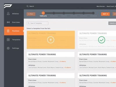 Template List ui dashboard web portal design interface layout list grid graphic toronto push