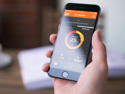 Heartrate Analysis heart rate push graph chart ui app screen layout graphic tab pie ux