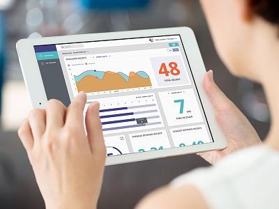 Dashboard dashboard chart graph portal layout web ui ux toronto grid
