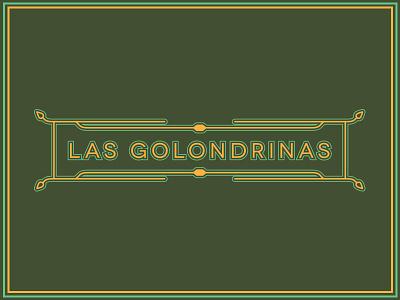 Banner - Las Golondrinas banner typography graphic design branding toronto layout leaf poster