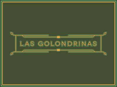 Banner - Las Golondrinas banner typography graphic design branding toronto layout leaf poster