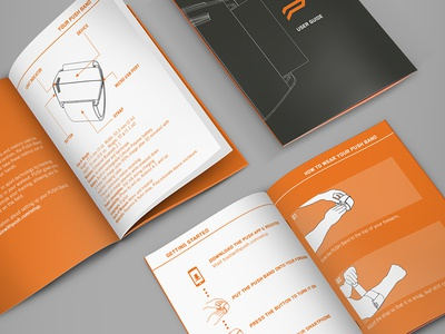 User Guide user typography instruction layout print design graphic guide