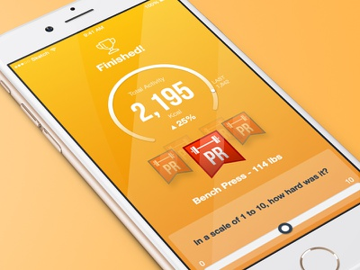 Activity Summary icon workout health toronto layout badge graph chart ux ui summary fitness