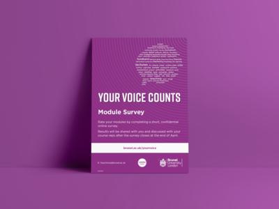 Your Voice Counts adobe photoshop photoshop graphic design print design indesign adobe indesign adobeilustrator