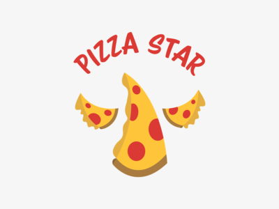 Pizza Star adobe illustrator illustration adobe photoshop photoshop graphic design branding logo design logo