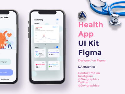 Health app uiux healh design