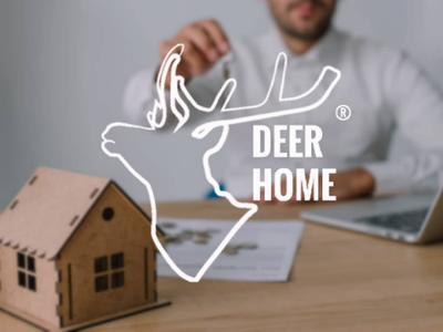Deer home design logo designer
