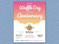 National Waffle Day flyer