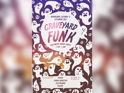 Graveyard Funk Halloween Party Poster